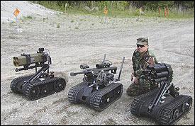 роботы Swords с различныи типами вооружения