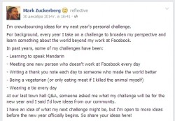 Mark Zuckerberg will reed books in 2015