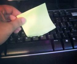 5 lifehacks keyboard sticker