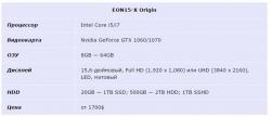 EON15-X Origin t